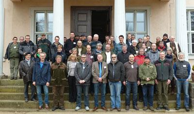 """Teilnehmer und Referenten der Tagung """"Der Uhu – Verbreitung und Schutz"""", 18. März 2016"""